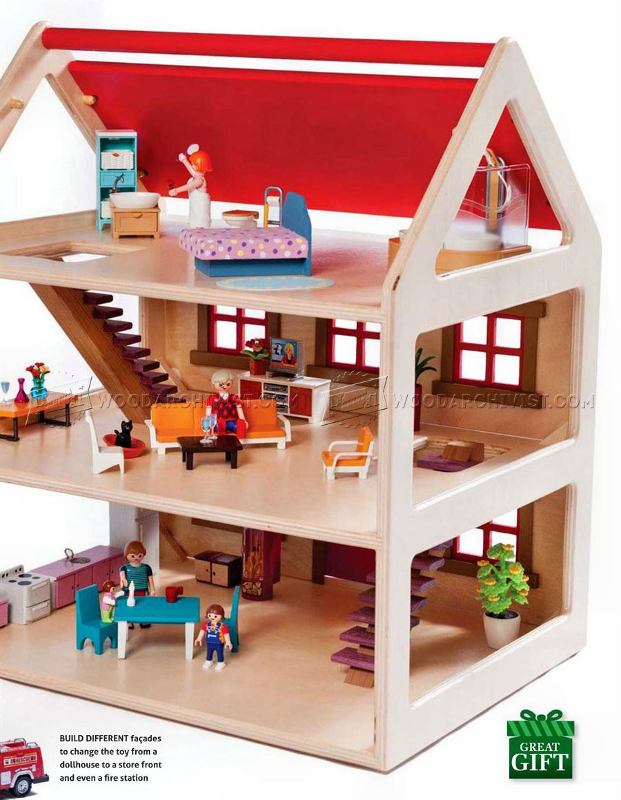Toy house plans woodarchivist for Toy plans