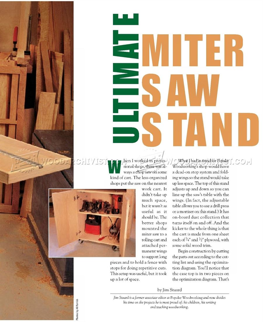 Ultimate Miter Saw Stand Plans