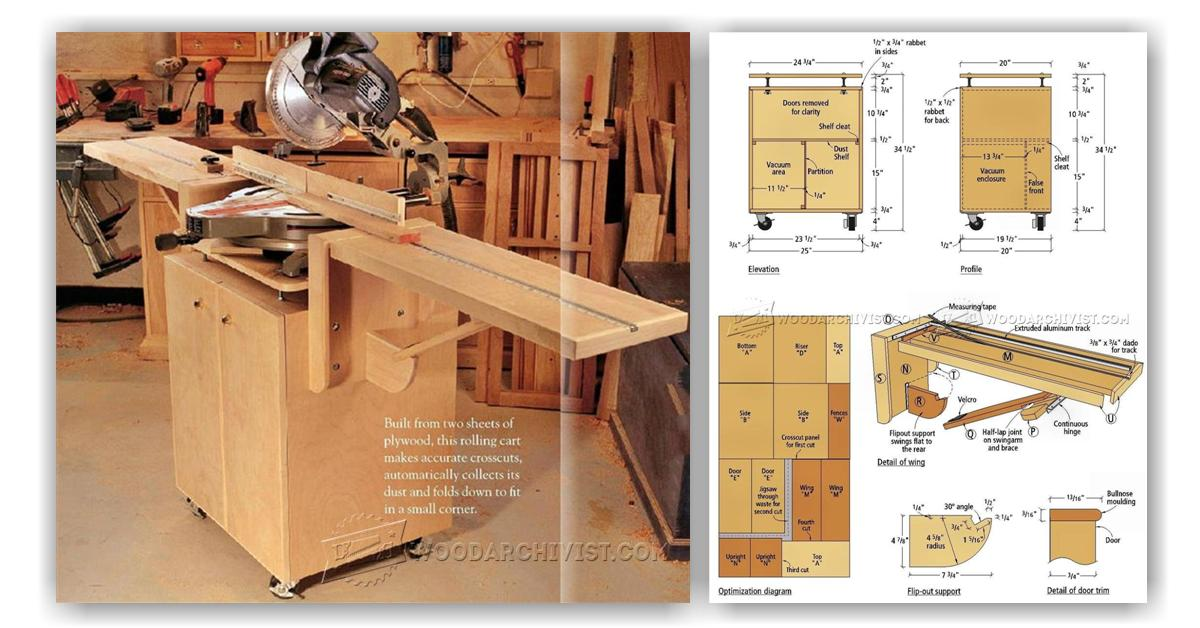 Ultimate Miter Saw Stand Plans • WoodArchivist