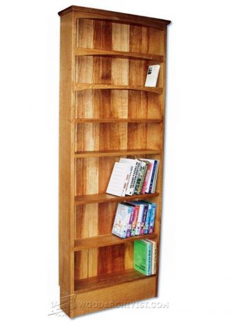 3208-Narrow Book Shelves Plans