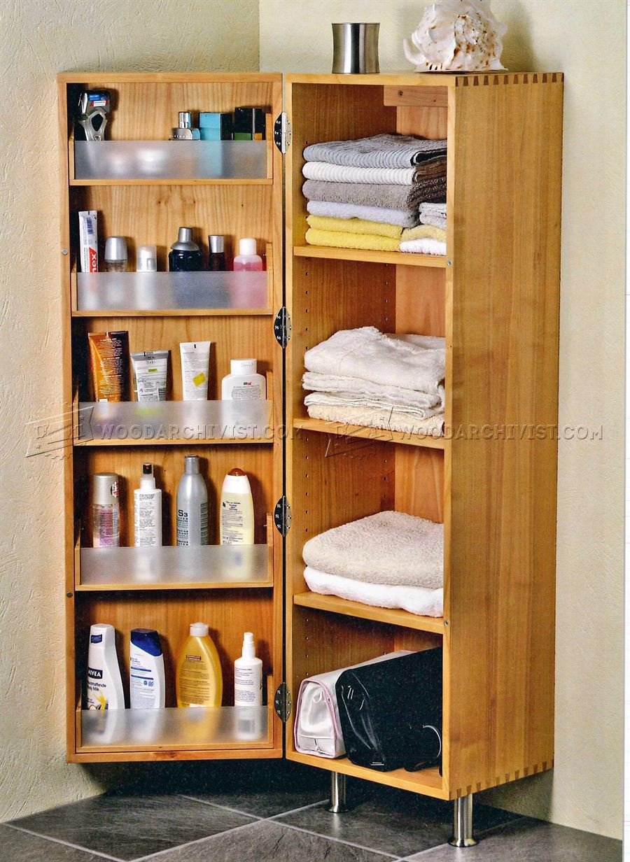 Bathroom cabinet plans woodarchivist for Free bathroom cabinet plans