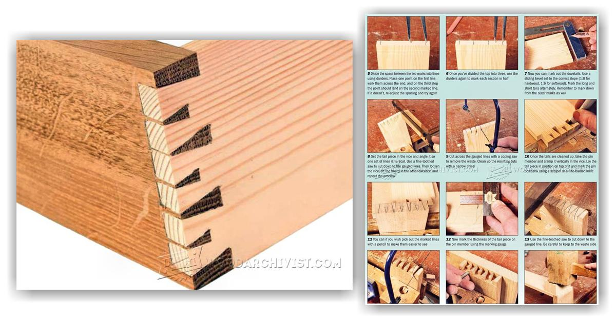 Houndstooth Dovetail Joint Woodarchivist