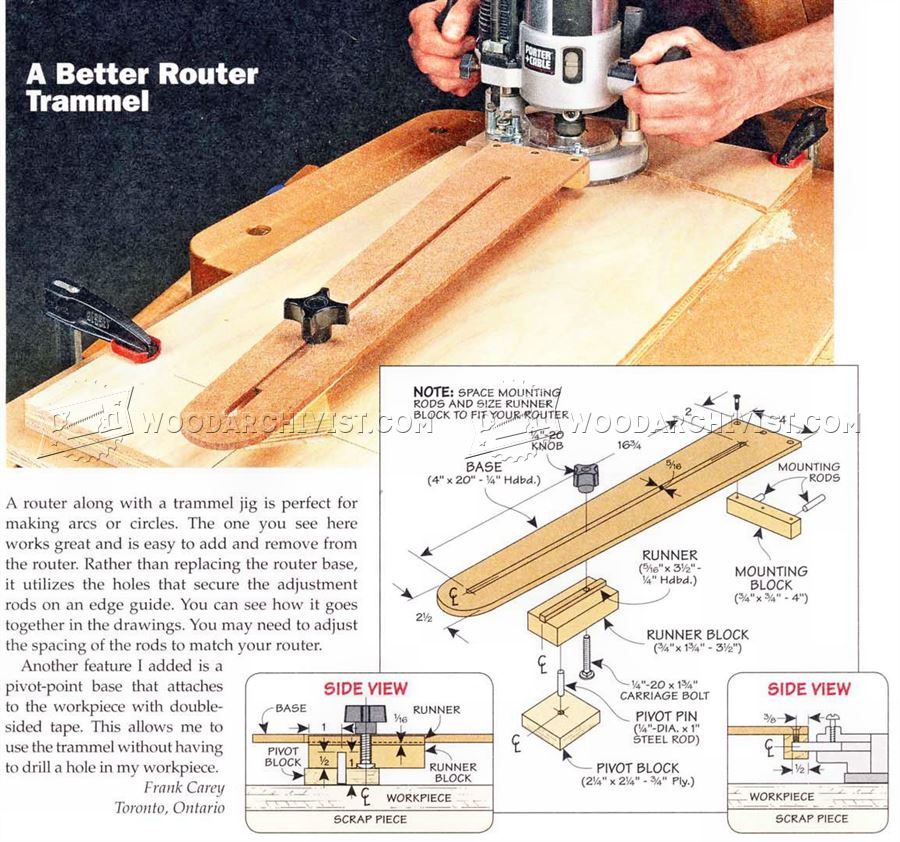 Diy guide to router trammel woodworking plan secrets and for Woodworking guide