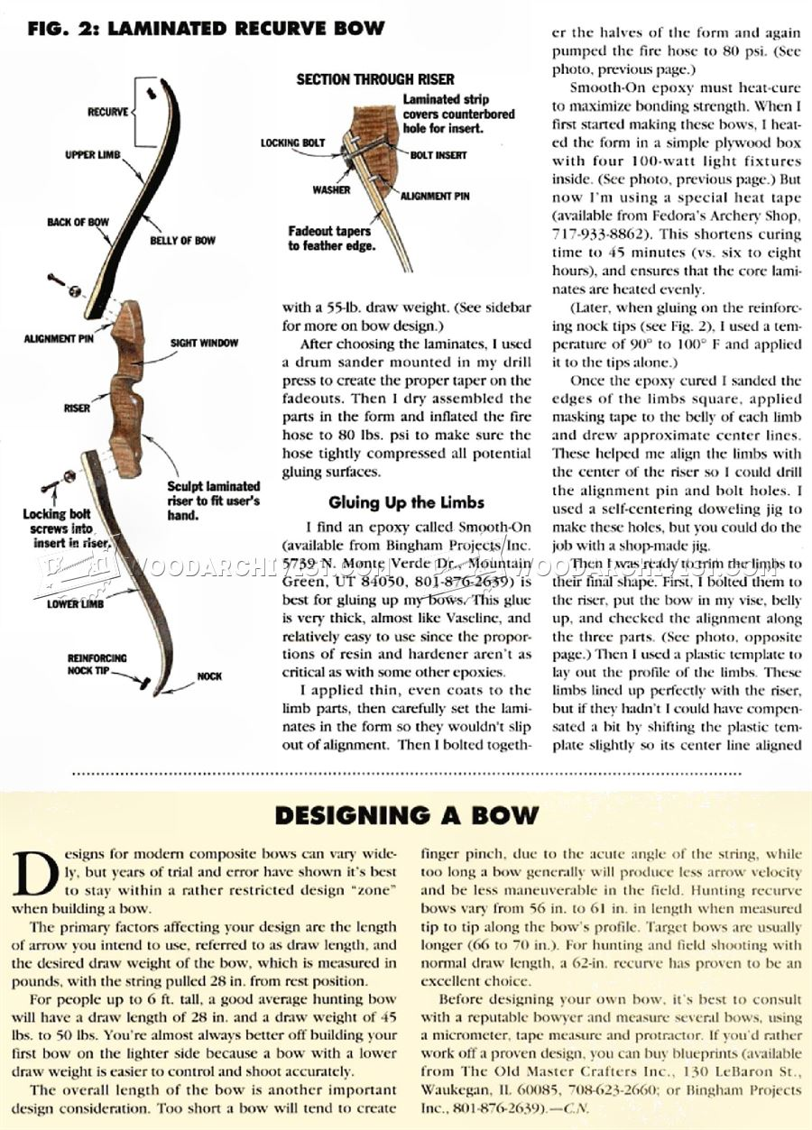 Making Recurve Bow