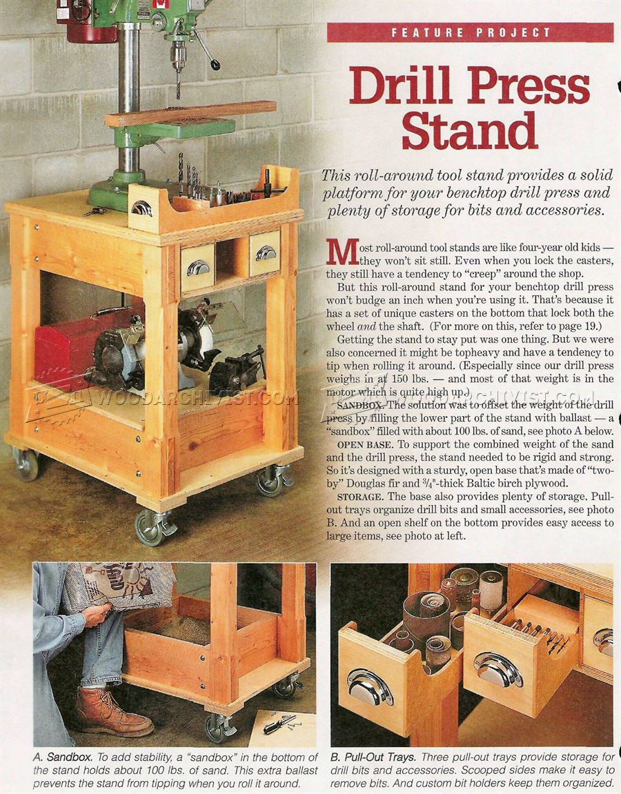 Mobile Drill Press Stand Plans Woodarchivist