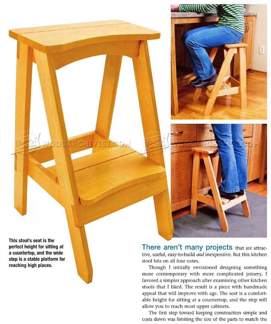 Wonderful Kitchen Step Stool Plans