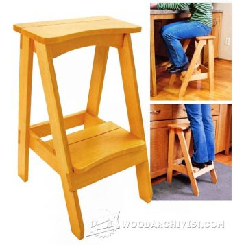 3220-Kitchen Step Stool Plans
