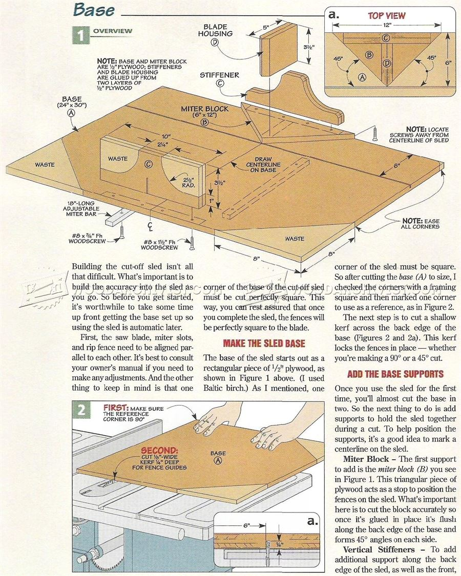 Table Saw Cut Off Sled Plans