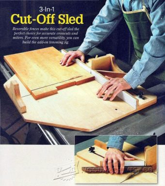 3231-Table Saw Cut Off Sled Plans