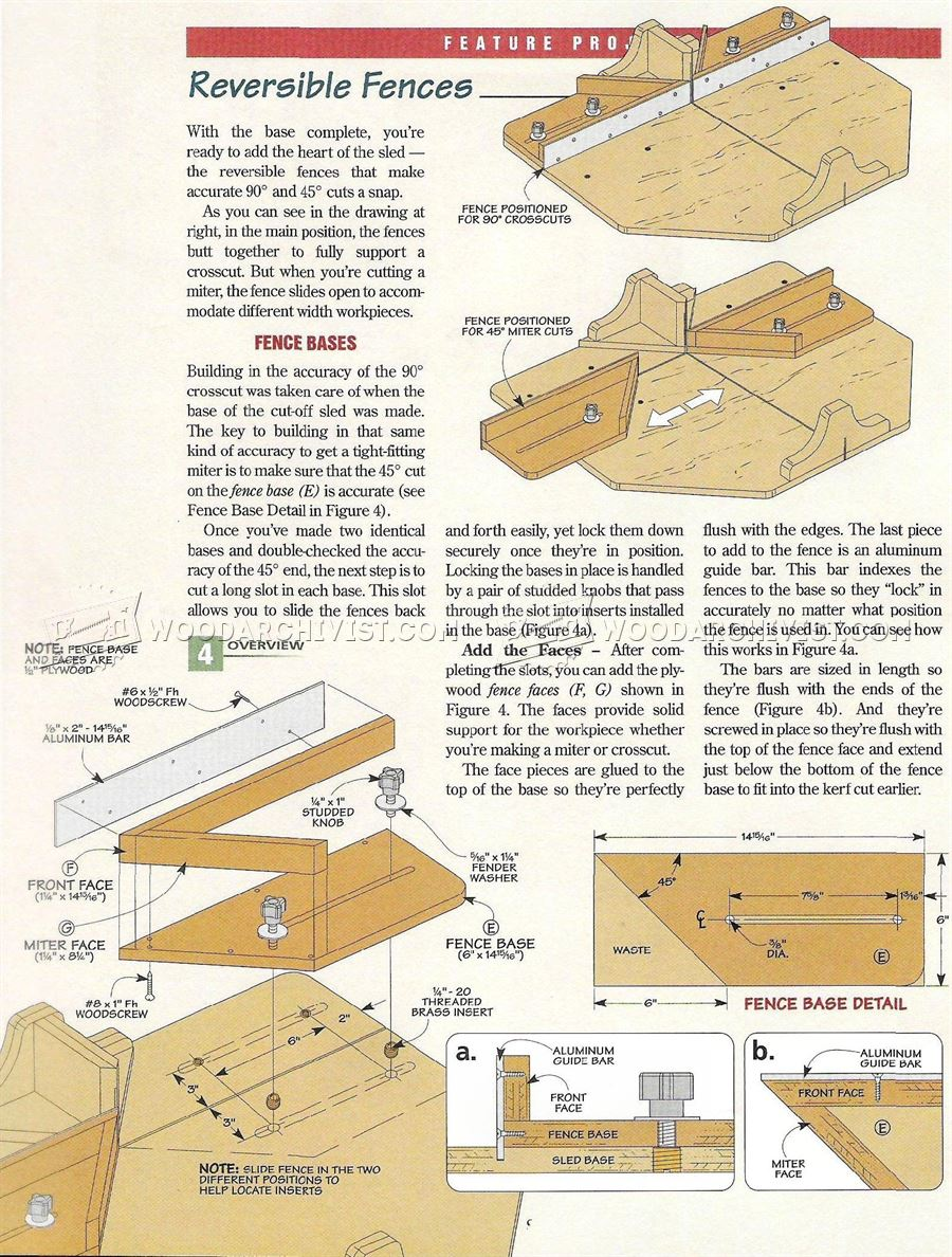 #3231 Table Saw Cut Off Sled Plans