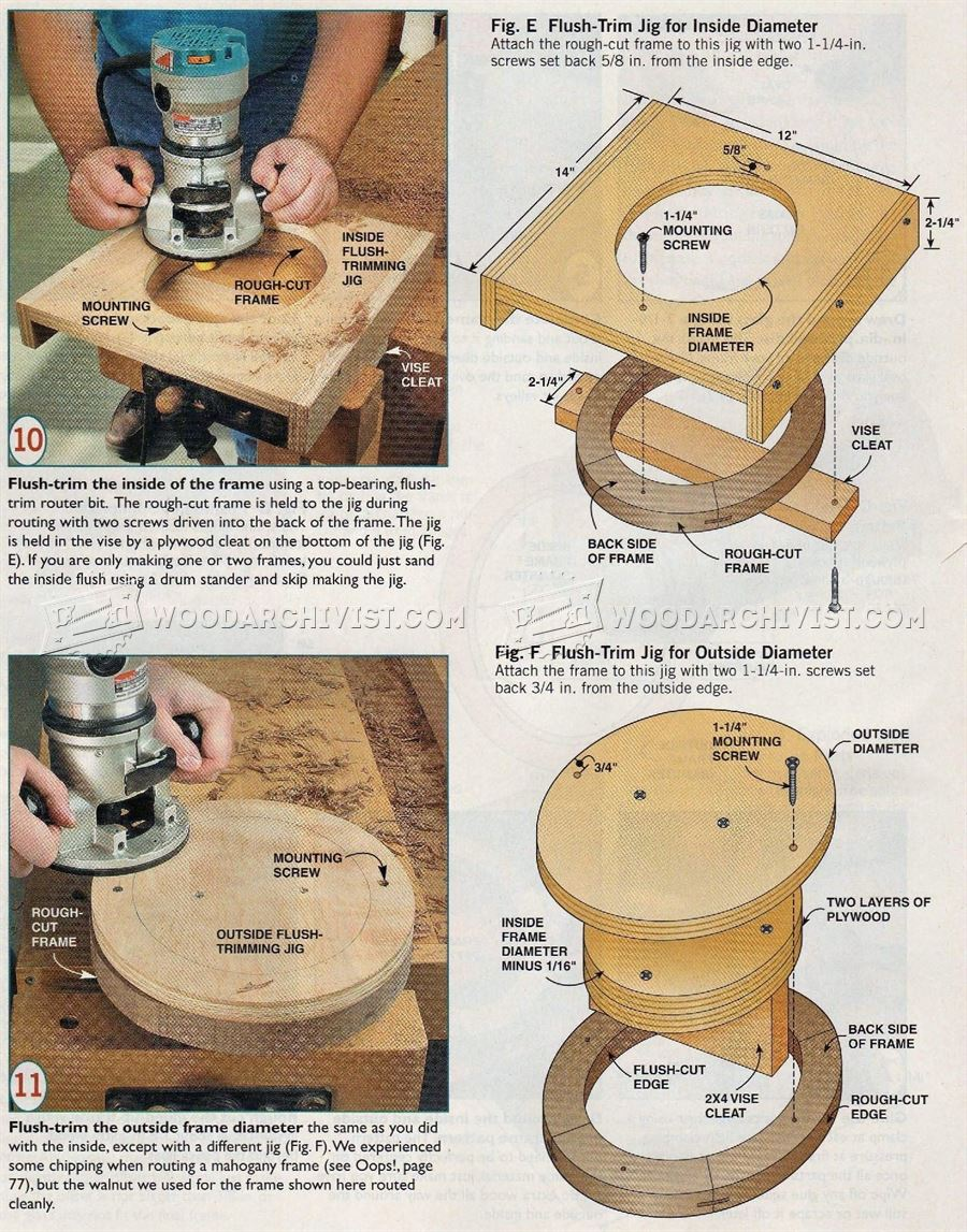 Making Oval Picture Frame