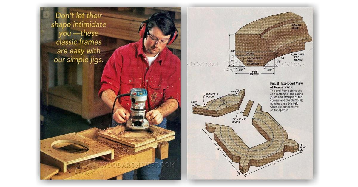 Making Oval Picture Frame • WoodArchivist