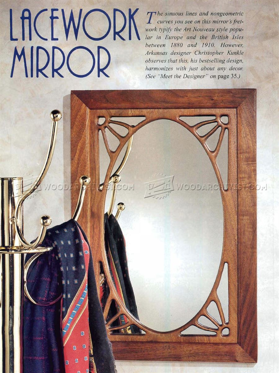 Art Nouveau Mirror Plans