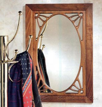 3235-Art Nouveau Mirror Plans