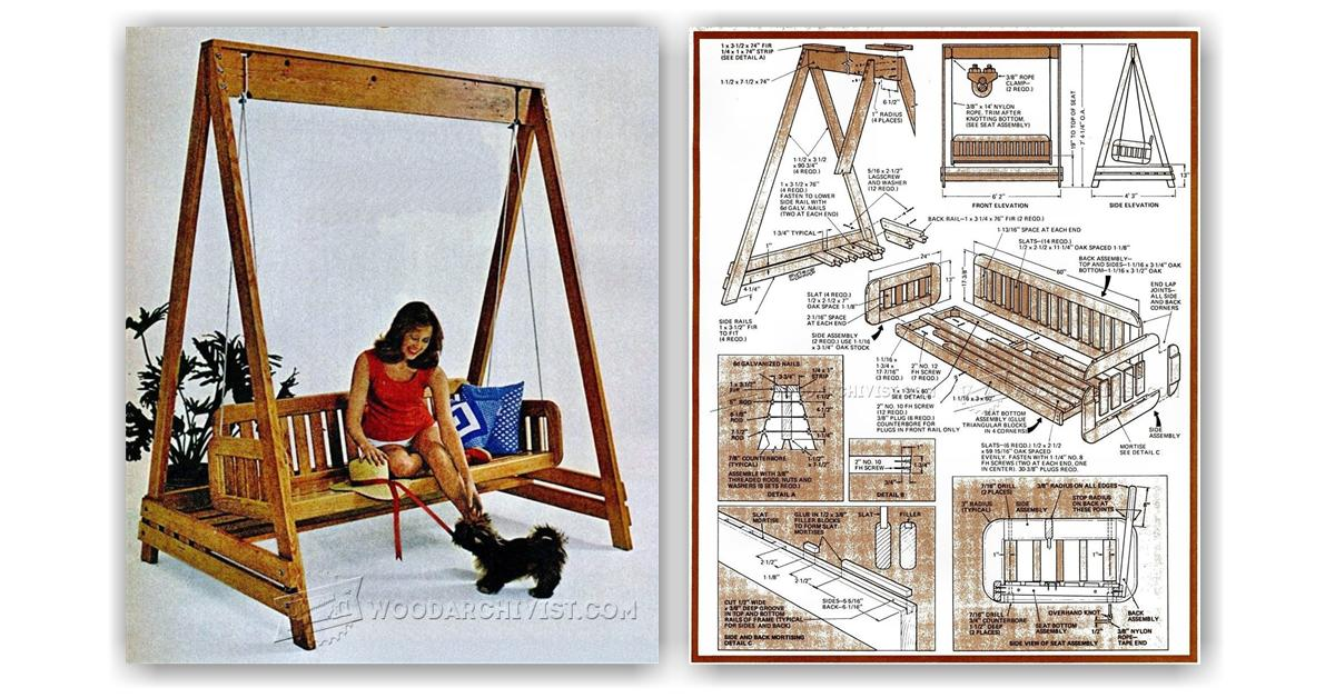 Porch Swing Plans • WoodArchivist