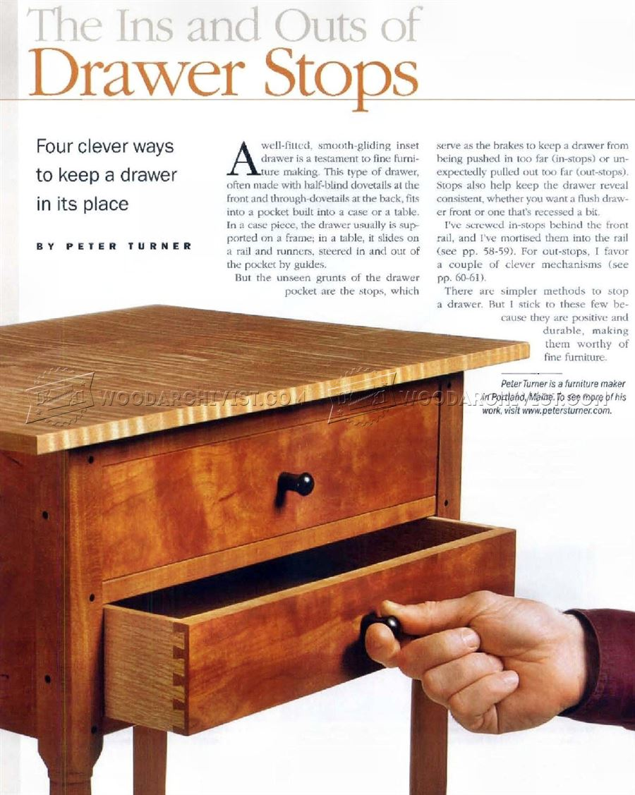 Making Drawer Stops - Drawer Construction
