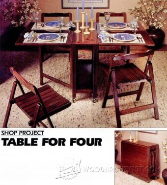 3259-Folding Table and Chairs Set Plans