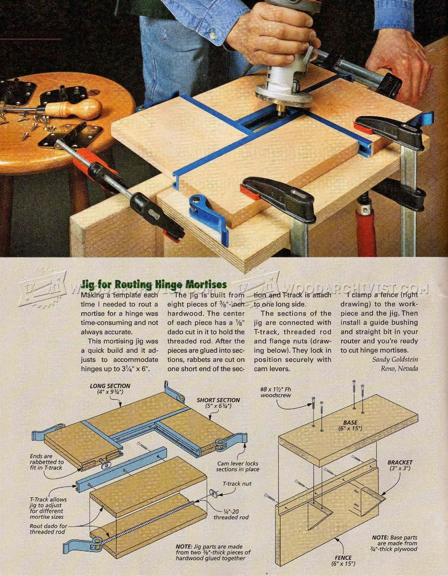 Diy Hinge Mortising Jig Woodarchivist