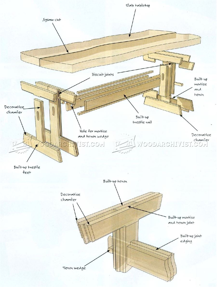 Slab-Top Patio Table Plans - Outdoor Furniture Plans