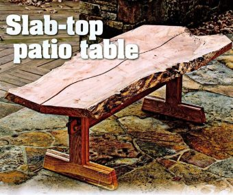 3267-Slab-Top Patio Table Plans