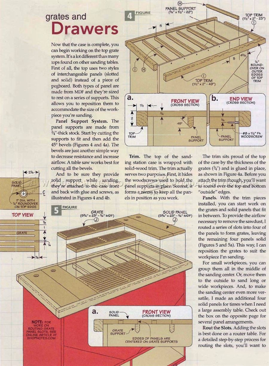 Downdraft Sanding Table Plans - Dust Collection Sanding Wood
