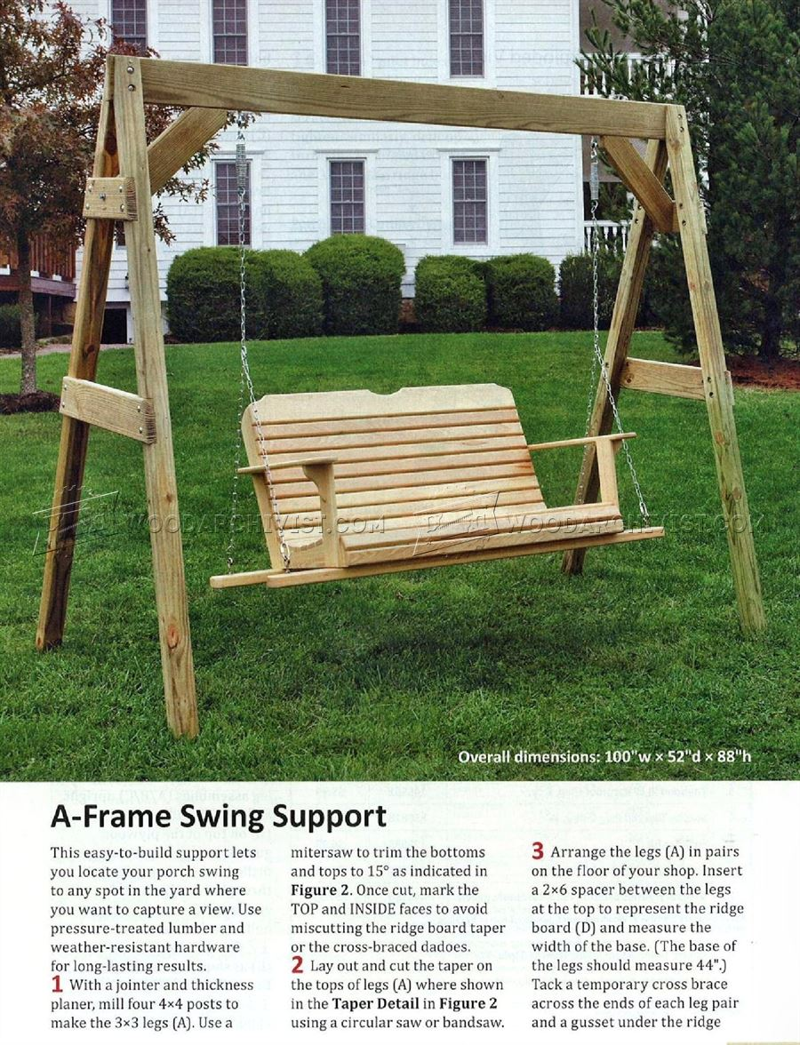 Porch swing plans woodarchivist for Outdoor swing plans