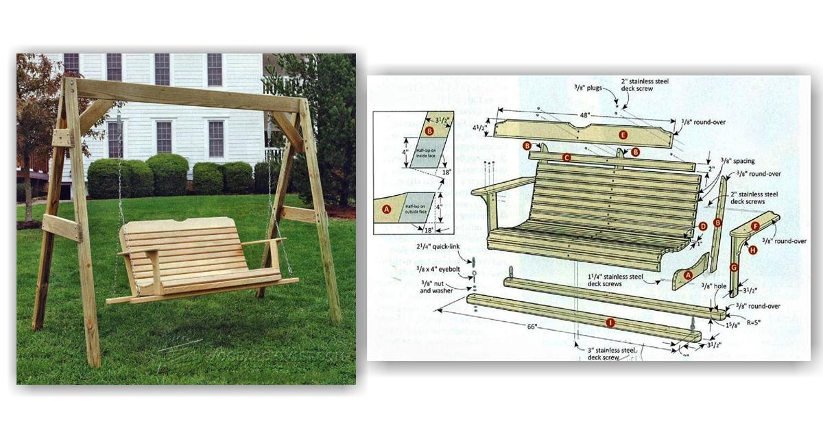 Porch swing plans woodarchivist for Woodworking plans porch swing