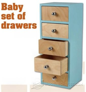 3281-Small Chest of Drawers Plans