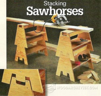 3282-DIY Stacking Sawhorses