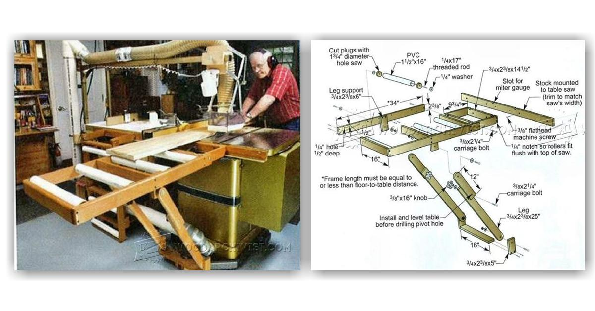 Table Saw Outfeed Table Plans • WoodArchivist