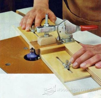Small Parts Routing Jig Woodarchivist