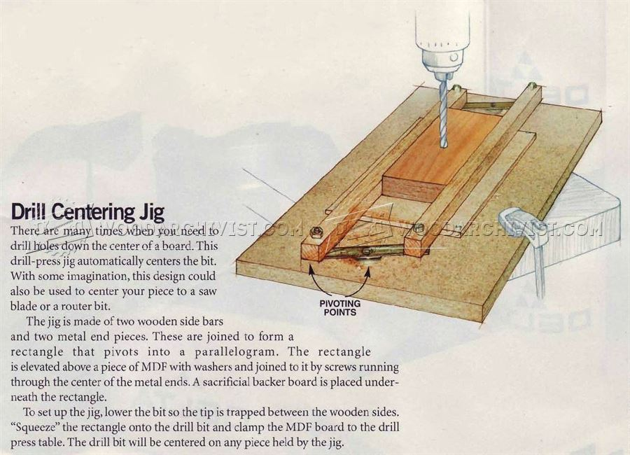 Drill Press Centering Jig