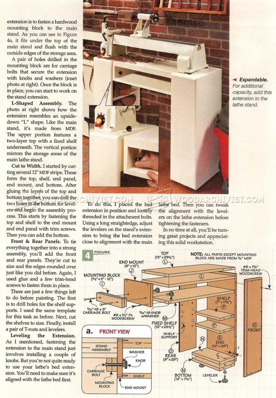 Wood Lathe Stand Plans