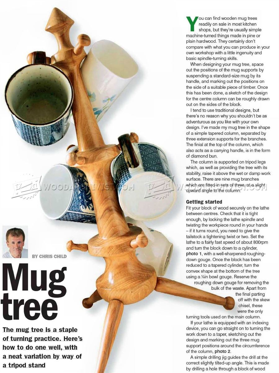 Mug Tree - Woodturning Projects