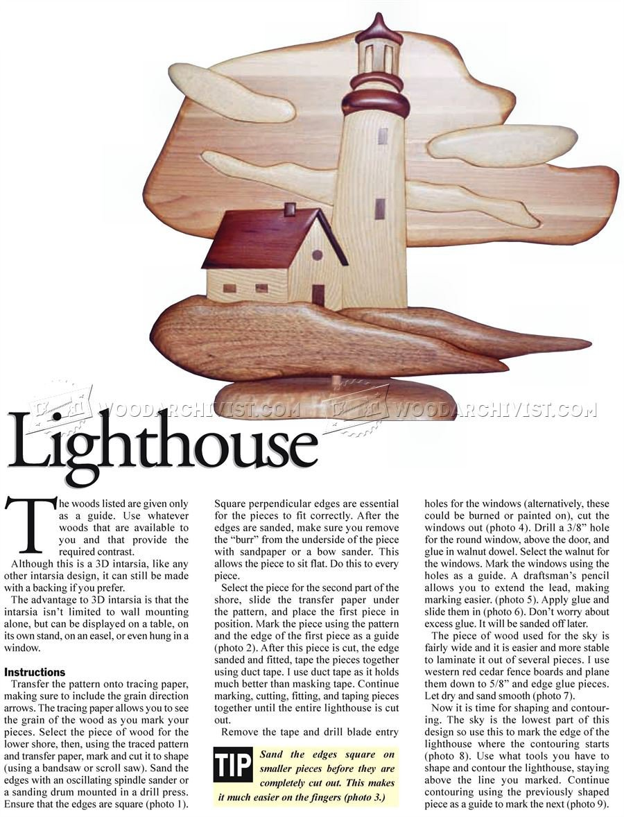 Lighthouse - Intarsia Projects