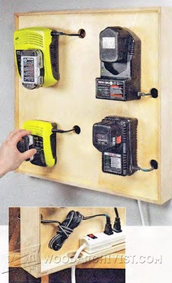 3310-Cordless Tool Charging Station Plans