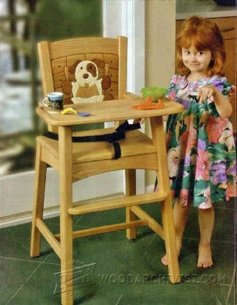 3314-Wooden High Chair Plans