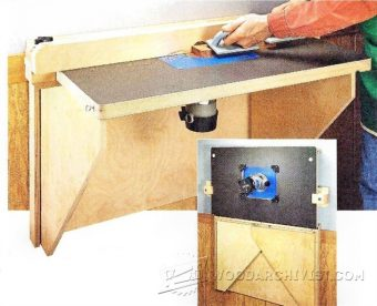 3316-Wall-Mounted Router Table Plans
