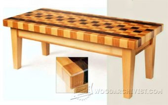 3318-Coffee Table Plans