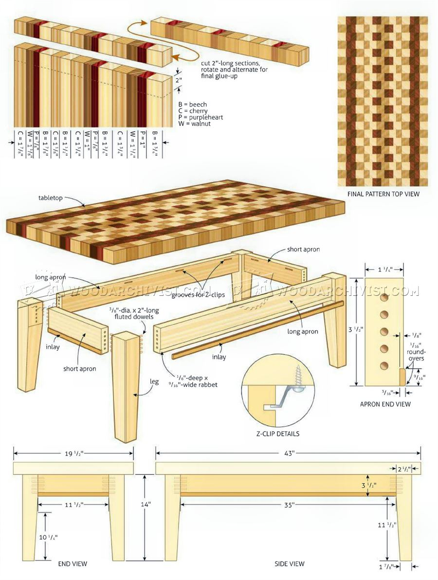 Coffee Table Plans Woodarchivis - Wood-coffee-table-plans