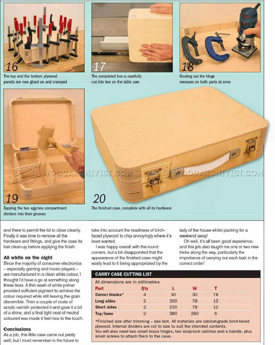Wooden Attache Case Plans