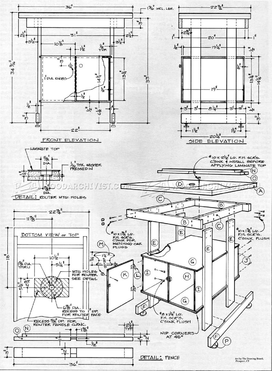 Simple router table plans woodarchivist for Table design plans