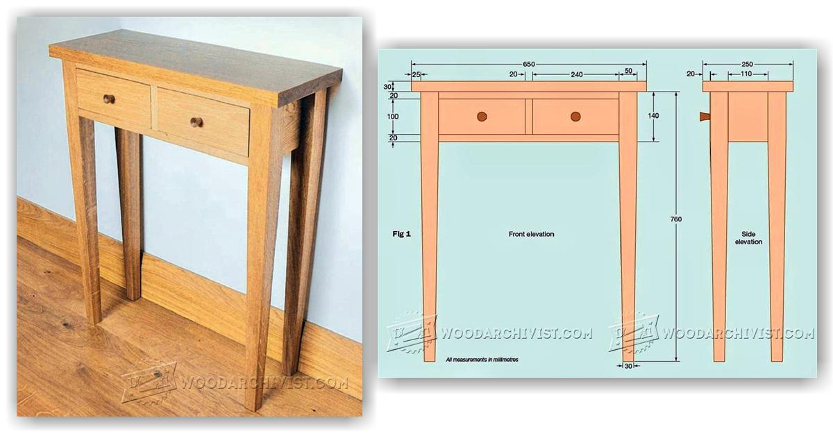 Foyer Table Woodworking Plans : Hall table woodworking plans with lastest pictures in