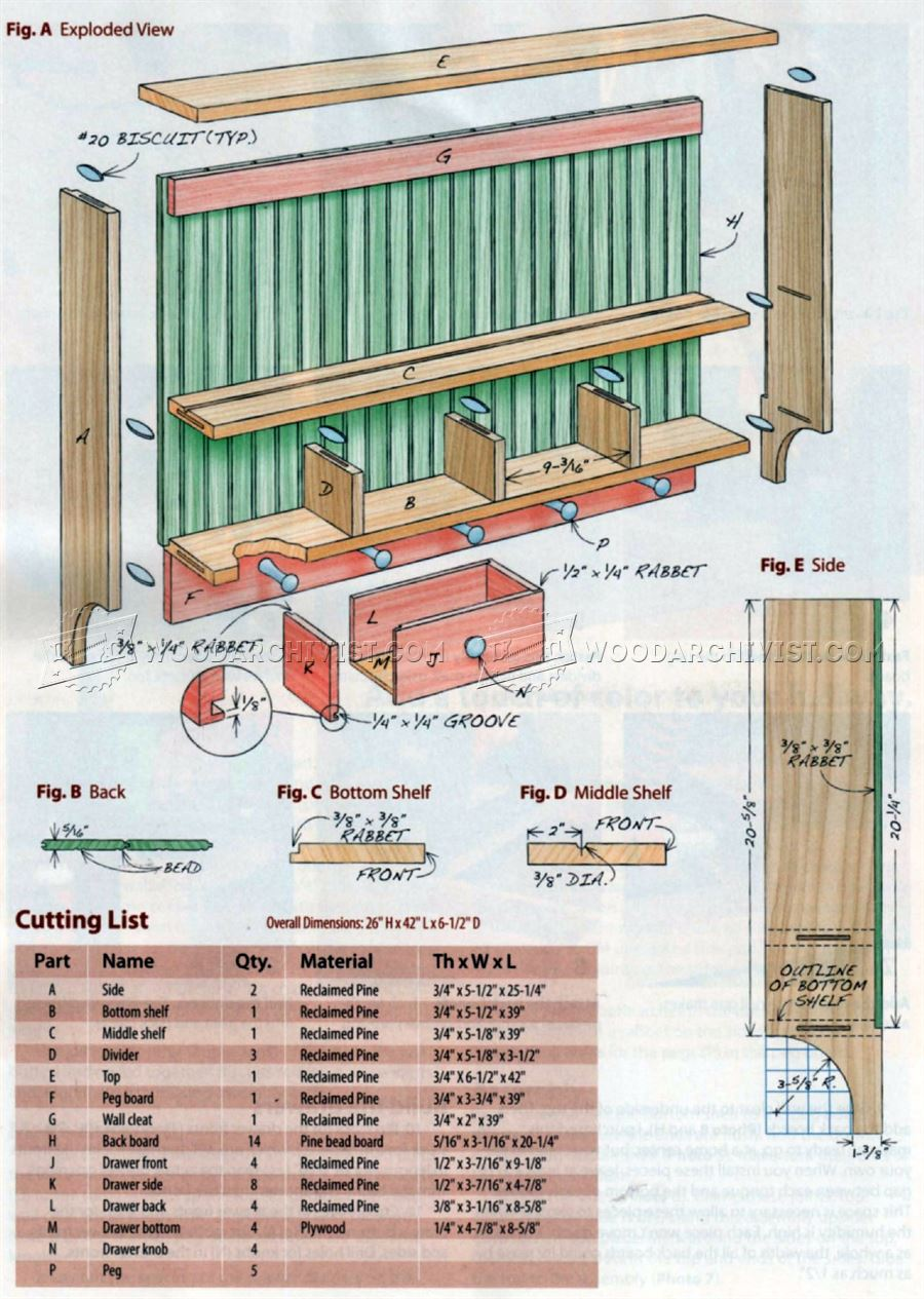 Wall Shelf Plans