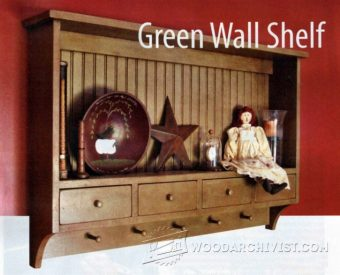 3332-Wall Shelf Plans