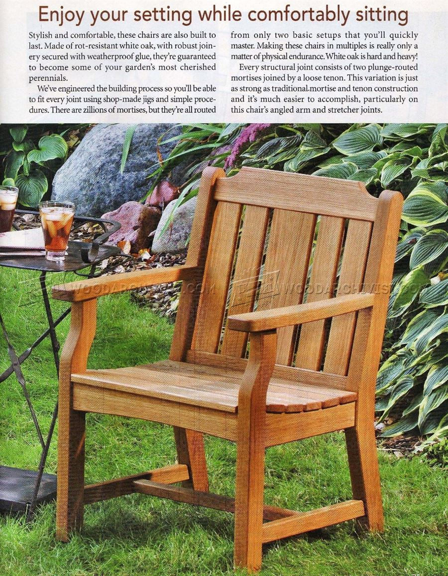 Outdoor Wood Chair Plans ~ Garden chair plans woodarchivist