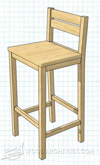 3337-DIY Bar Stools