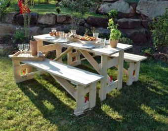 3338-Folding Picnic Table Plans