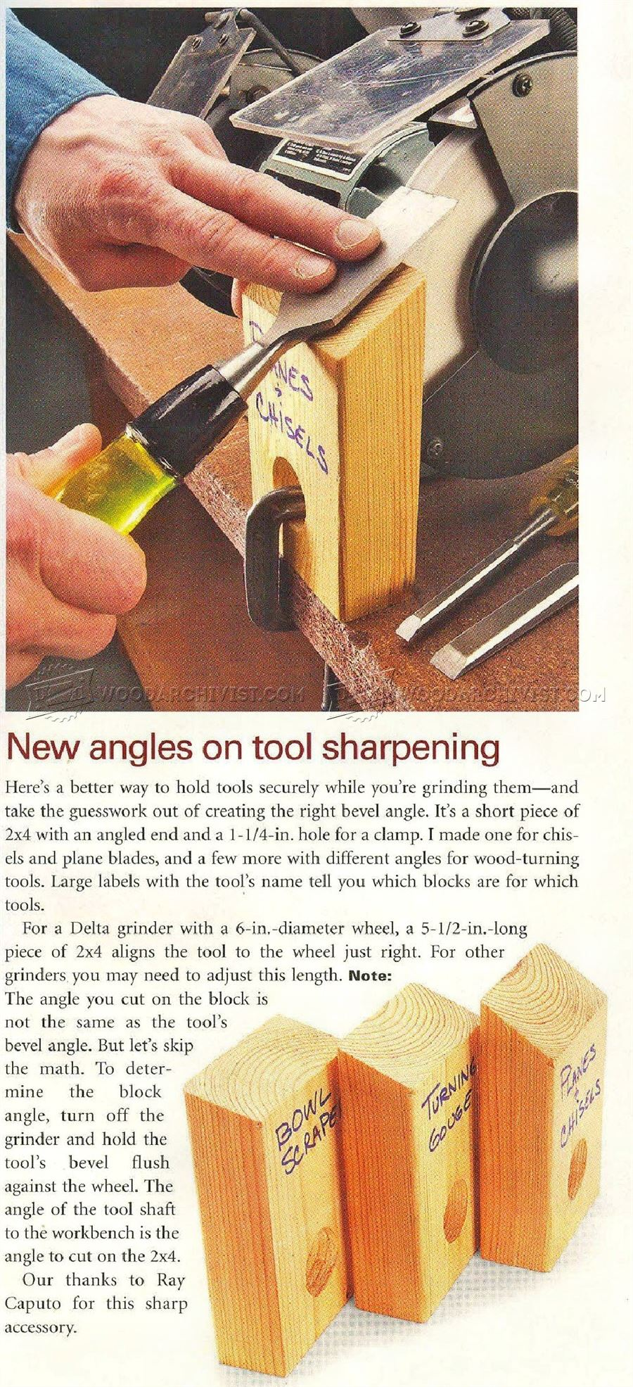 New Angles on Tool Sharpening