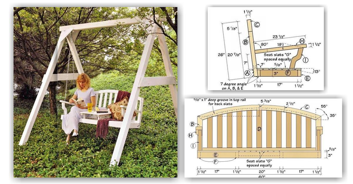 Garden Swing Plans Woodarchivist